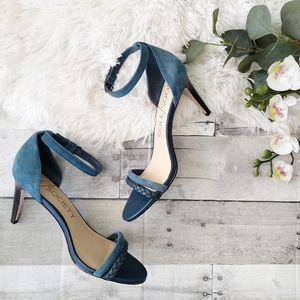 Sole Society Sher dark teal strappy heels 7.5M